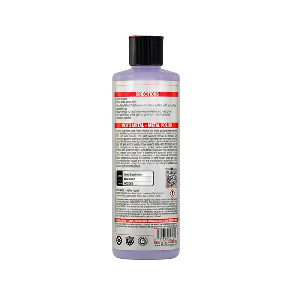 Chemical Guys MTO10616 - Metallpolitur Moto Metal Polish, Moto Line