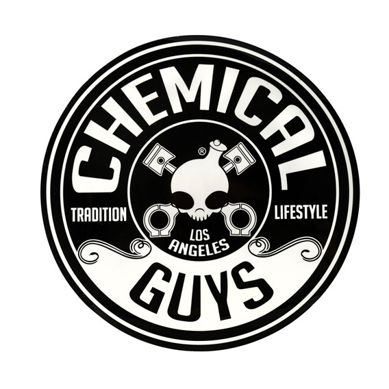 Chemical Guys LAB119 - Chemical Guys Logo Sticker, Rund (20,32cm)