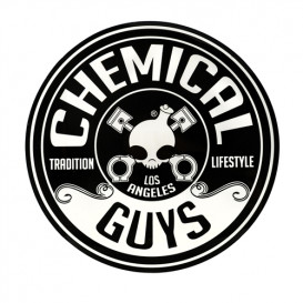 Mehr über Chemical Guys Logo Aufkleber, Rund (12,70cm)