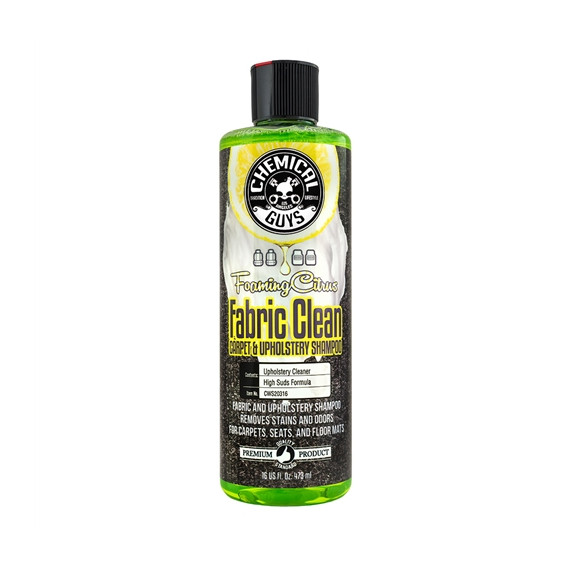 Chemical Guys CWS20316 - Foaming Citrus Fabric Clean Carpet & Upholstery Shampoo & Odor Eliminator