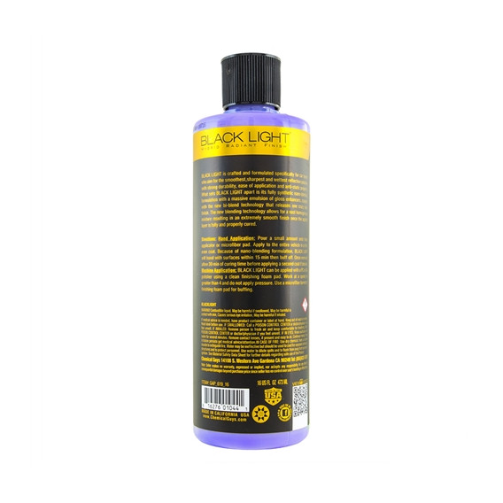 Chemical Guys GAP_619_16 - BLACK LIGHT - HYBRID RADIANT FINISH