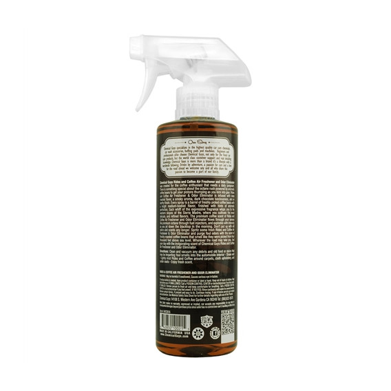 Chemical Guys AIR23616 - Rides and Coffee Scent Premium Air Freshener and Odor Eliminator