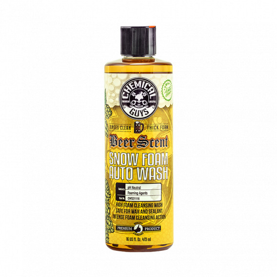 Chemical Guys CWS21116 - Beer Scent Snow Foam Autoshampoo
