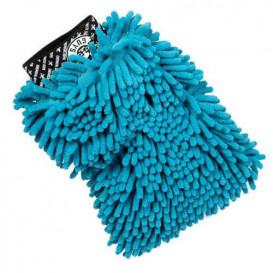 Chenille Microfiber Premium Scratch-Free Wash Mitt blau