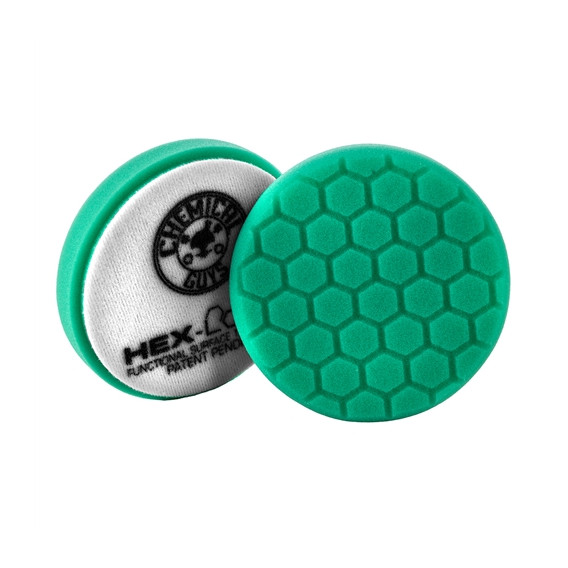 Chemical Guys BUFX_103HEX4 - Hex-Logic Heavy Polishing Pad, Green (4 Inch)