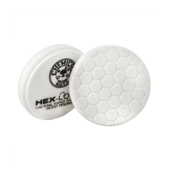 Chemical Guys BUFX_104HEX4 - Hex-Logic Light-Medium Polishing Pad, White (4 Inch)