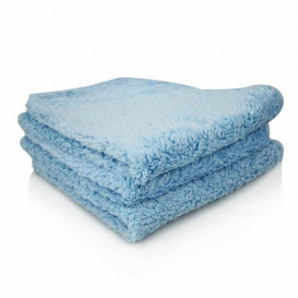 Shaggy Fur-Ball Microfiber Towel, Blau 40x40