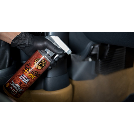 Chemical Guys AIR_102_16 - Leather Scent Premium Air Freshener & Odor Eliminator