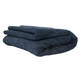 Elegant Edgeless Microfiber Towel, Schwarz