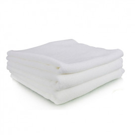 WHITE MONSTER EDGELESS MICROFIBER TOWEL 40x40 cm