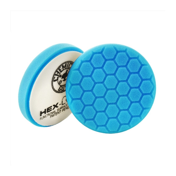 Chemical Guys BUFX_105HEX6 - Hex-Logic Light Polishing/Finishing Pad, Blue (6.5 Inch)