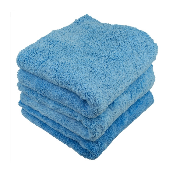 Chemical Guys MIC35001 - Happy Ending Edgeless Microfiber Towel, Blau 40x40cm