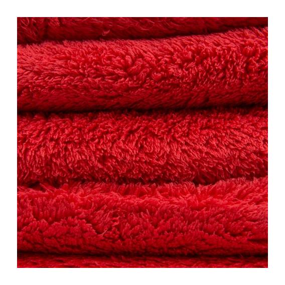 Chemical Guys MIC35101 - Happy Ending Edgeless Microfiber Towel, Rot 40x40cm