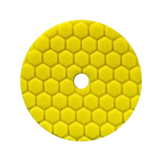 Chemical Guys BUFX111HEX5 - Hex-Logic Quantum Heavy Cutting Pad, Yellow (5.5 Inch)