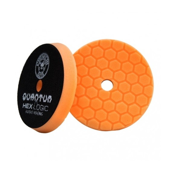 Chemical Guys BUFX112HEX5 - Hex-Logic Quantum Medium-Heavy Cutting Pad, Orange (5.5 Inch)