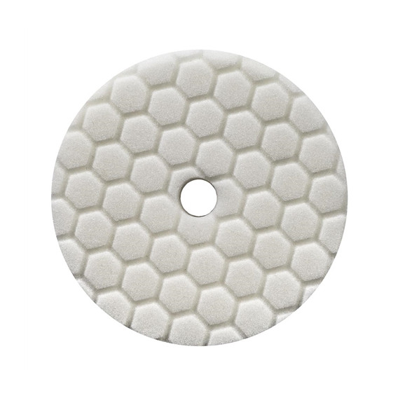 Chemical Guys BUFX114HEX5 - Hex-Logic Quantum Light-Medium Polishing Pad, White (5.5 Inch)
