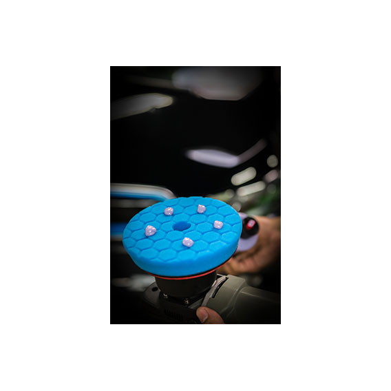 Chemical Guys BUFX115HEX5 - Hex-Logic Quantum Polishing/Finishing Pad, Blue (5.5 Inch)
