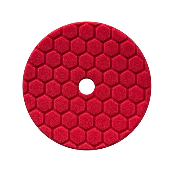 Chemical Guys BUFX117HEX5 - Hex-Logic Quantum Ultra Light Finishing Pad, Red (5.5 Inch)
