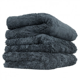 Happy Ending Edgeless Microfiber Towel, Schwarz 40x40cm