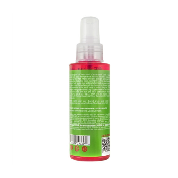 Chemical Guys AIR22504 - Fresh Slice Watermelon Premium Air Freshener & Odor Eliminator (4 oz)